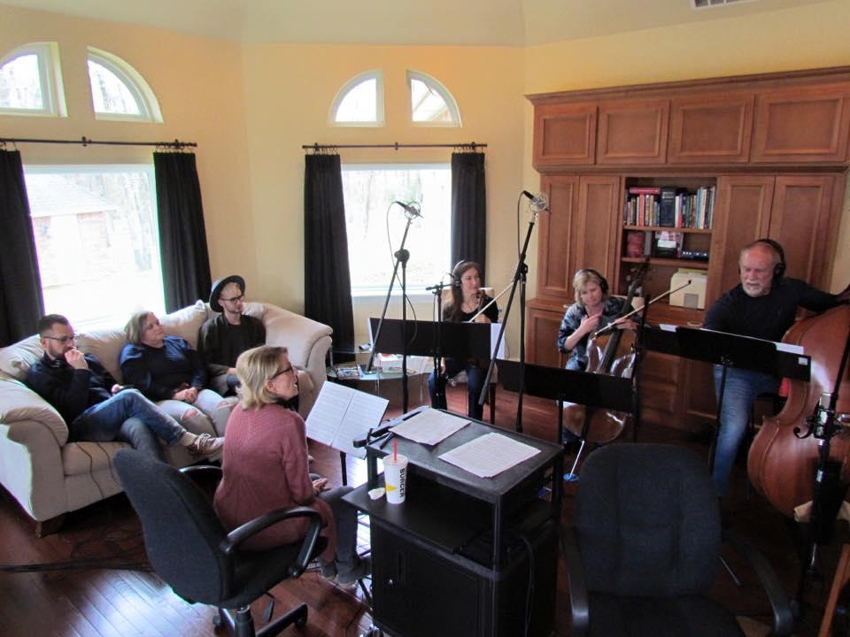 String trio tracking in Fountain Square House Studio A