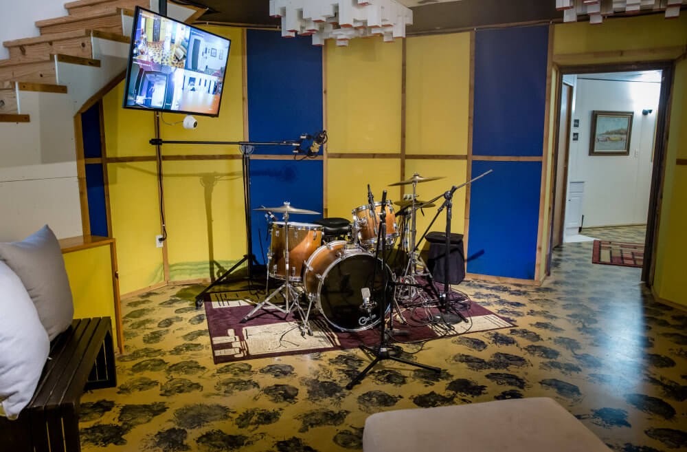 Drum Tracking Room at Fountain Square House